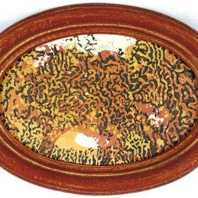 ligne 16 3 1996 eauforte cadre bois peint