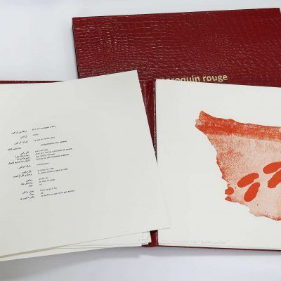 maroquin rouge : livre d'artiste en 7 exemplaires